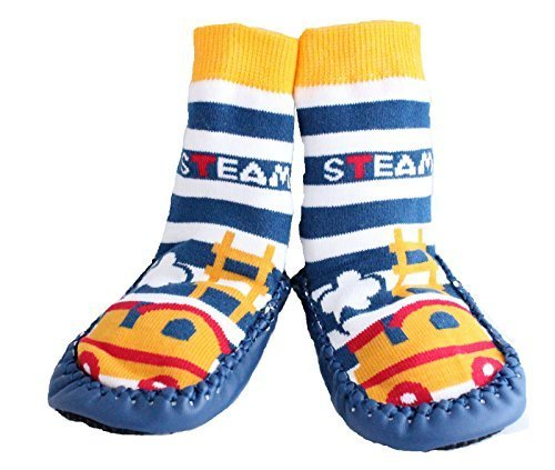 baby-boy-toddlers-kids-indoor-slipper-shoe-socks-moccasins-anti-slip-blue-steam-train-15-25-y