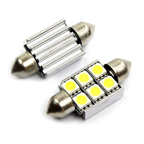 jurmann Trade GmbH® LED SMD luce illuminazione interni/illuminazione targa 36mm Xenon Bianco con 6LEDs, molto luminoso officina ware