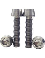 [4 Pack] MCTi M6 x 25 mm Mountain MTB Fahrrad Innensechskantschlüssel konisch Head Titanium Ti Vorbau Schrauben