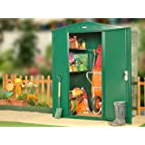 5 x 4 ft Metal Garden Shed in Dark Green (Flat Pack) - Secure outdoor storage unit from Asgard