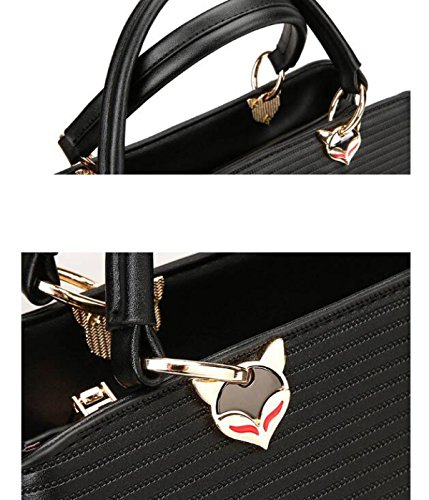 Fashion Trend Damen Damen Gestreiften Frauen Schulter Diagonal Cross Bag LightGray