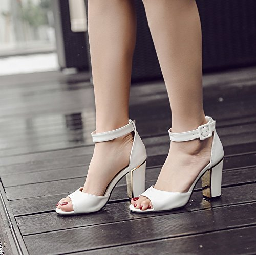 GS~LY Geschenk Die neue gold Felge mit high-heeled hochhackigen Sandalen White