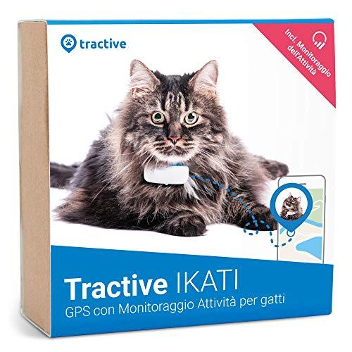 Tractive IKATI - Localizzatore GPS per gatti con monitoraggio dell'attività. Adatto ad ogni collare