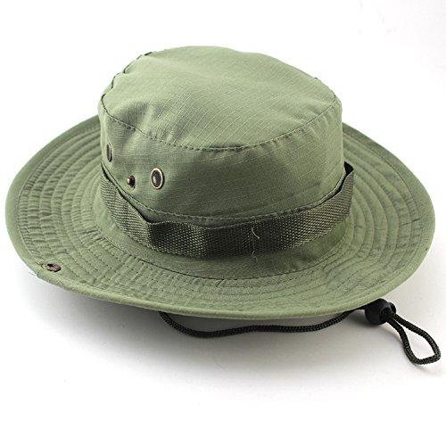 Zamak Outdoor Eimer Hüte Herren Jungle Military Bob Camo Hat Camping Grill Baumwolle Klettern Angeln Kappen, Shallow green - Eimer-hut Angeln Kappe