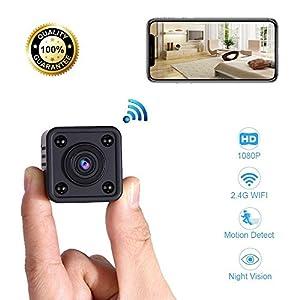 camara camuflada inalambrica: Mini Cámara Espía WiFi | Cámara de Vigilancia Inalámbrica Oculta IP con Sensor d...
