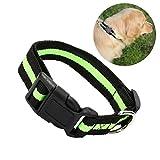 UEETEK Reflektierende Hundehalsband verstellbar mit Leine in Grün und Schwarz