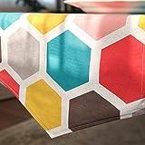 AEXU Kurz Farbgitter Blumen-Muster-Tuch-Tabellenläufer Tischdecke-Kaffee-Tabellen-Tuch-lange Tischdecke-moderne einfache Art- und Weisegroße Wohnzimmer-Küche-Restaurant-Hotel-Heimtextilien (dieses Produkt verkauft nur Tischläufer) 35 * 220cm