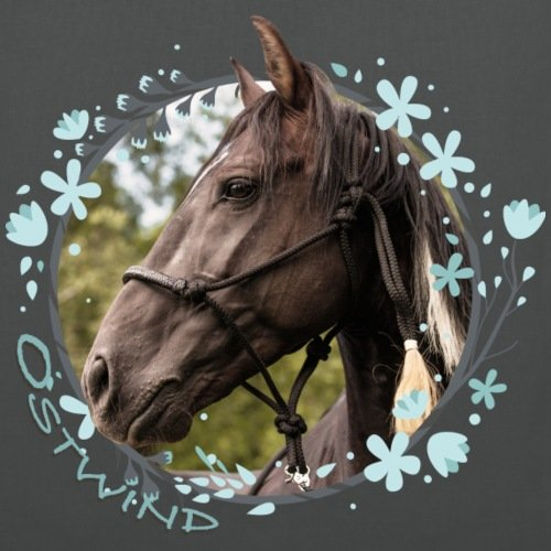OSTWIND Aufbruch Nach Ora Porträt Hengst Stoffbeutel von Spreadshirt® Graphite
