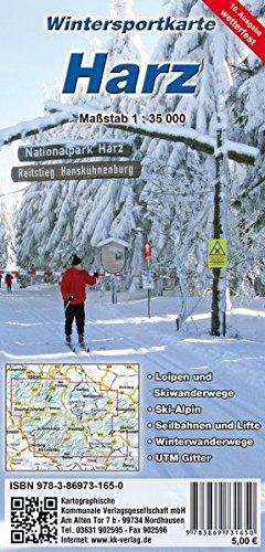 Wintersportkarte Harz: Loipen- und Wintersportkarte (wetterfest)