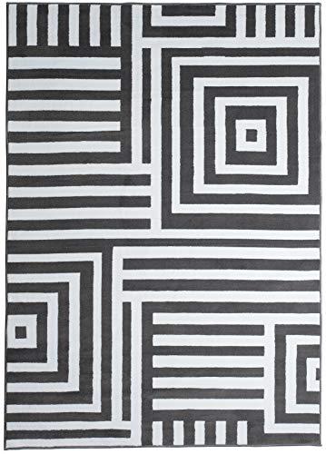 Tapiso Alfombra Salón Moderno Piso Colección Fire – Diseño Marroq