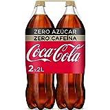 Coca-Cola - Zero Zero, Refresco con gas de cola, 2 l (Pack de 2), Botella de plástico