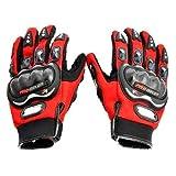 #7: Probiker Full Finger Gloves for Bikers (Red)