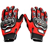 Probiker Motorcycle Riding Gloves (Red, X-Large)