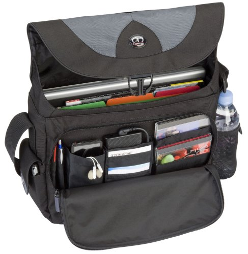 Tamrac Borsa per PC con Schermo Fino a 15,4 Pollici, Light PC Messenger, Nero