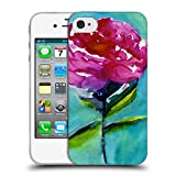 Head Case Designs Offizielle Mai Autumn Pfingstrose 2 Bluete Blumig Soft Gel Hülle für iPhone 4 / iPhone 4S