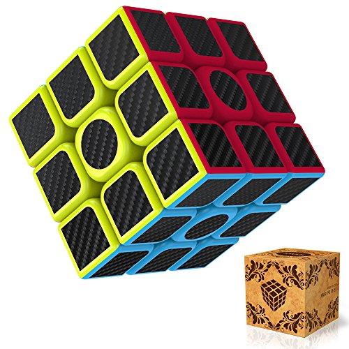 Cube 3x3 Splaks Vitesse Cube de Magique Spin Lisse Super Durable avec des Couleurs Vives pour un Jeu de Formation sur le Cerveau ou un Cadeau de Vacances