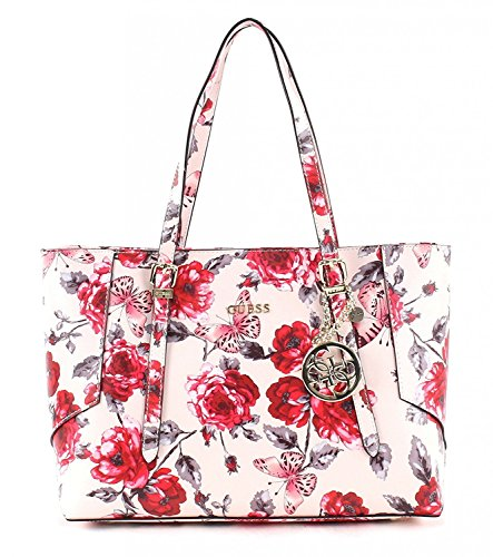 Guess Isabeau E/W shopping bag tote nude/red
