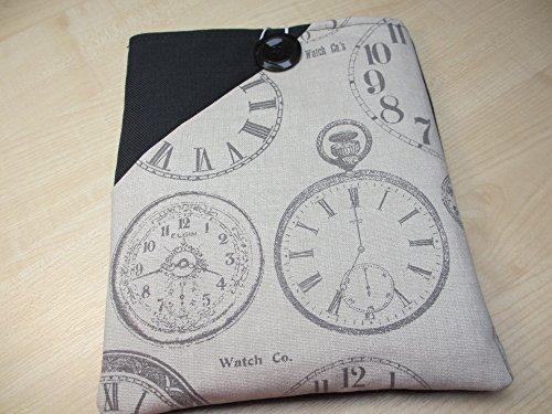 black-case-for-ipad-with-vintage-clocks-pocket