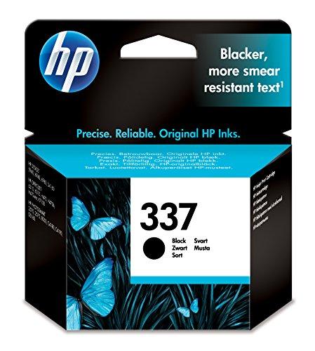 HP 337Black Inkjet Print Cartridge schwarz Tintenpatrone Druckerpatrone für HP PhotoSmart 2575Drucker (schwarz, & 8050, HP DeskJet 5940, Standardkapazität, Schwarz, Tintenstrahl, 20–80%)