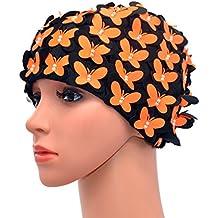 Medifier cuffia con motivo vintage floreale petalo retro Style Balneazione  tappi per le donne 6abbfe79715d