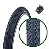 Fincci Slick Road Mountain Hybrid Bike Fahrrad Reifen 26 x 1.95 54-559 und Autoventil Schläuche 48mm