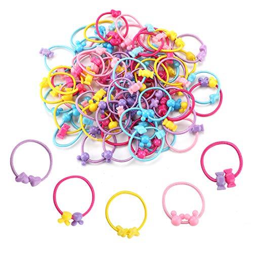 Hifot - elastici per capelli per bambine e ragazze, confezione da 100 pezzi, colore: caramella