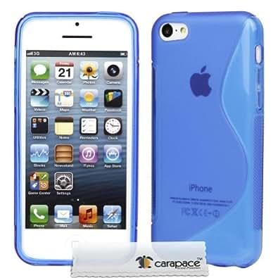 APPLE IPHONE 5C TPU SILICONE GEL SKIN CASE COVER (AQUA BLUE S-LINE)
