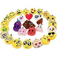 Zindoo Mini Emoji Llavero Emoción Llavero Felpa and Photo Booth Props (30 Emoji)