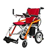 JIAO UK Electric Wheelchairs Foldable Lightweight Easy For Family Gathering The Aviation Travel Use Powerful And Quiet Brushless Motors Mobility Aid Lightweight And Easy To Carry Wheelchair