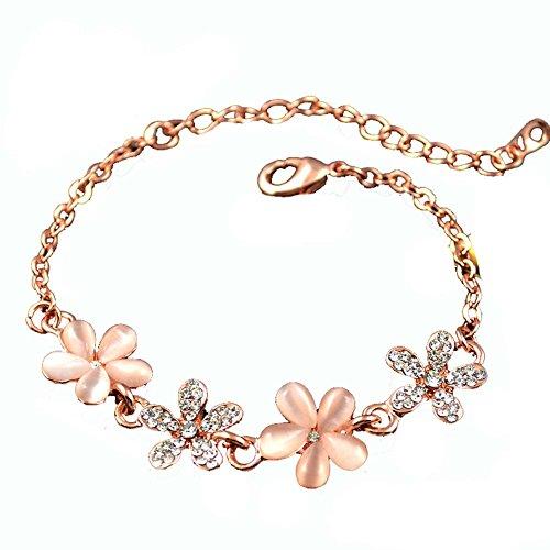 Modeschmuck Amethyst Armband in Herzform Rose Gold-Armband-Hand
