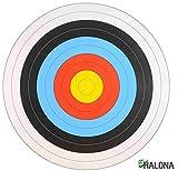 10x FITA Scheibenauflage mit Nylonfaden + 10x Scheibennägel, Zielscheibe, Bogenschießen, Auflage 80 cm