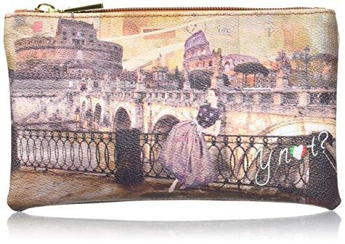 YNOT i-341, Organizer Borsa Donna, 20x12x1 cm (W x H x L) Multicolore (Roma Retro')
