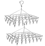 Best Drying Rack For Laundries - 2 Pack Stainless Steel Laundry Drying Rack, Swivel Review