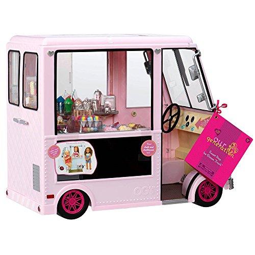 Our Generation - 44718 - Camion Glacé - Bon Arrêt - pour Poupées Rose 0062243312104