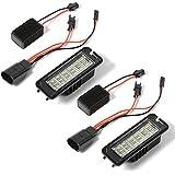 XCSOURCE Lumière Plaque D'Immatriculation 18 LED 3528 SMD avec Décodeur pour VW Golf 4/5/6, Beetle, Passat, Polo, SEAT Altea / Leon MA537