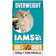 Iams ProActive Health Complete and Balanced Cat Food with Chicken for Sterilised and Overweight Cats, 10 kg