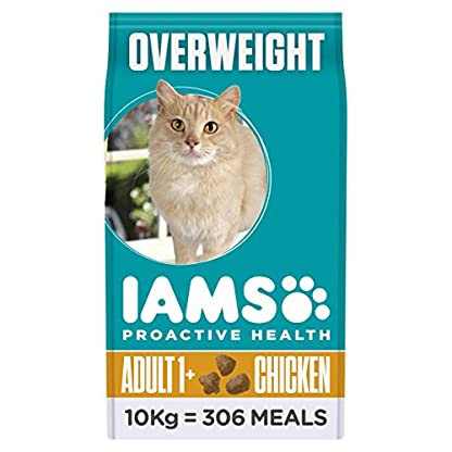 Iams ProActive Health Complete and Balanced Cat Food with Chicken for Sterilised and Overweight Cats, 10 kg 1