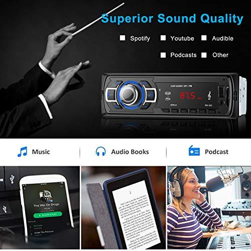 OCDAY-Autoradio-MP3-Autoradio-Bluetooth-Radio-Auto-con-Telecomando-Rudio-Stereo-per-Auto-Radio-Universal-Autoradio-MP3-Stereo-Multi-colore-LCD-Autoradio-Lettore-con-BluetoothUSBSDAUXFM