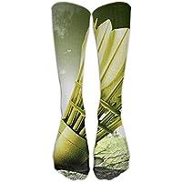 Long Dress Socks Over-the-Calf Tube Compression Socks Badminton Painting Training Football Athletic Sports Socks