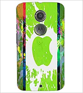 PrintDhaba Apple D-2887 Back Case Cover for MOTOROLA MOTO X2 (Multi-Coloured)