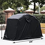 Anhon Motorcycle Shelter Storage Black Oxford 600D Waterproof Motorbike Cover Large Motorbike Storage Tent for Protecting Motorcycle (Black) (Black)