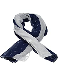Micro Anchor Print Sailor Viscose Womens Scarf