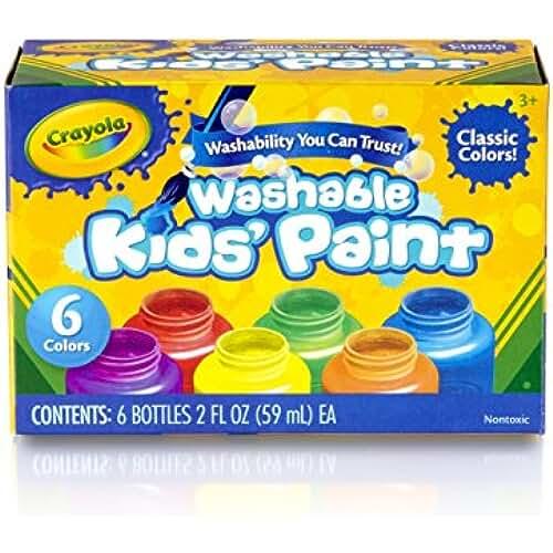 jirafa kawaii para colorear y mas Crayola - Pintura lavable para niños (6 botes)