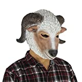 Queenshiny® latex masque animal (Mouton)