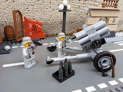 Modbrix 2182 – Bausteine Nebelwerfer 41 Stellung inkl. custom Wehrmacht Soldaten aus original Lego© Teilen - 2