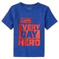 The Children's Place Boys' Everyday Hero Fire Truck Graphic T-Shirt, 2 Years, Mazarine Blue