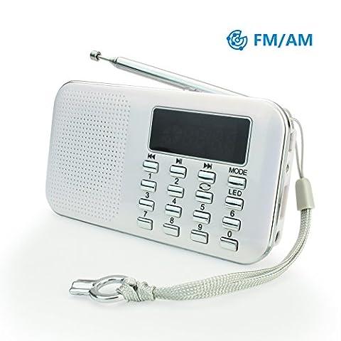 Radio Camping - Mini Radio AM FM Haut-Parleur Lecteur de