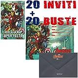 Marpimar Marvel Avengers INVITI Festa di Compleanno 20 INVITI