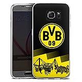 DeinDesign Slim Case Silikon Hülle Ultra Dünn Schutzhülle kompatibel mit Samsung Galaxy S6 BVB Logo Borussia Dortmund
