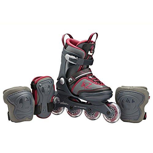 Preisvergleich Produktbild K2 Mädchen Inline Skate Marlee Pro Pack, Schwarz/Grau/Rot, S (29-34), 3040203.1.1